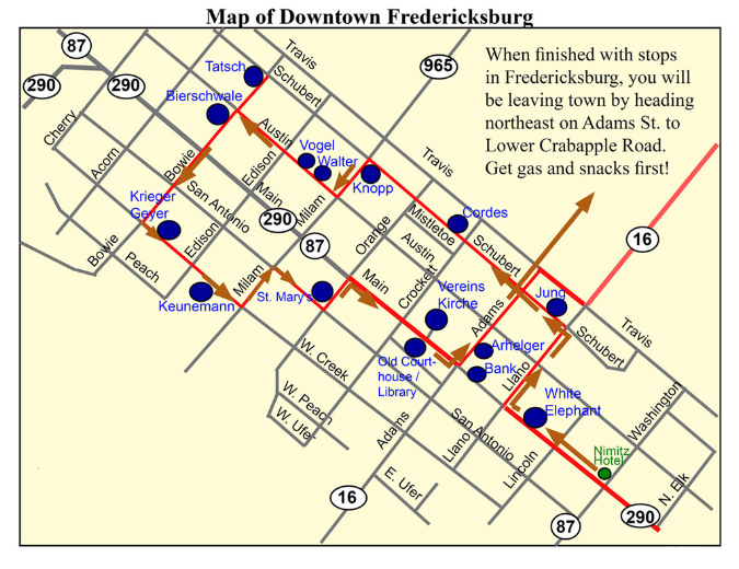 Directions Fredericksburg Texas  Bing Images